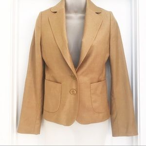 Banana Republic Wool 2 button Blazer in Camel